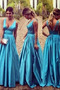 Vestido de fiesta Espalda Descubierta Corte-A Falta Baja escote en V - Página 1