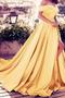 Vestido de noche largo Corte-A Abertura en el muslo Escote con Hombros caídos - Página 11