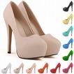 Zapatos de boda impermeables de estilo de tacón alto de 14 cm