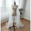 200CM Chal de boda con doble capa de tul con cuentas