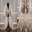 Vestido de novia de encaje abrigo de manga larga chal de novia abrigo de capa
