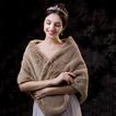 Vestido de chal de terciopelo cálido de imitación chal de otoño e invierno