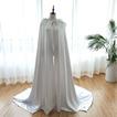 Chal de boda color largo satinado chaqueta con capucha capa de novia