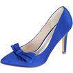Lazo de satén con tacones de aguja zapatos de princesa zapatos de boda