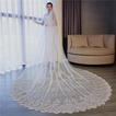 Velo de cola con apliques de encaje Velo de fotografía de estudio Velo Accesorios de boda