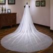 Novia de cola larga velo de novia tocados blanco brillante cielo estrellado velo