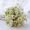 Bouquet novias coreanas se casó con simulación de la mano de flores de té verde y blanco