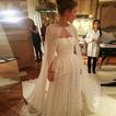 Chal largo de gasa chaqueta de boda elegante simple 2 metros de largo