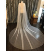 Velo de mantón de tul 3M capa de velo de novia simple