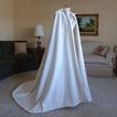 200CM chal de novia capa de satén chal blanco con capucha