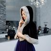 Capa de novia vestido de novia abrigo grueso chal negro