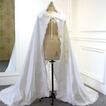 Capa de satén de boda musulmana capa de tela de satén