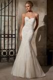 Vestido de novia Otoño Moderno Escote Corazón Apliques Cola Capilla