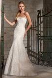 Vestido de novia Corte Sirena Natural Sin mangas Botón largo Escote Corazón