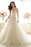 Vestido de novia Invierno Moderno Corte-A tul Espalda Descubierta Escote Corazón