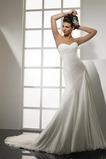 Vestido de novia Sencillo Cintura Baja Drapeado Lateal primavera Espalda medio descubierto