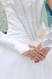 Guante de la boda Otoño tafetán Abalorio Playa Romántico