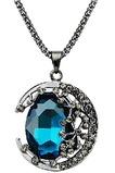 Collar mujer nuevo producto aleación joyería Retro collar y colgante de cristal