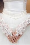 Guante de la boda primavera Romántico Apliques Playa tul
