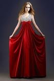 Vestido de noche Abalorio Imperio Imperio Cintura Moderno Cordón Satén Elástico