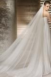 La novia vestido de novia velo hilado suave 3 metros de largo y dos capas velo suave