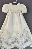 Vestido de Bautizo Imperio Cintura Alto cubierto Formal Joya Corte princesa