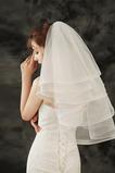 Velo corto hinchado accesorios de boda velo simple barato