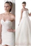 Vestido de novia Colores Barco Con velo Plisado Corte-A Natural