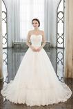 Vestido de novia Sin tirantes Cordón Capa de encaje Formal Satén largo