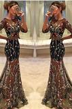 Vestido de fiesta Elegante tul Cola Barriba Apliques Transparente Invierno
