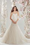 Vestido de novia Corte Sirena Sala Cristal largo Natural Sin mangas