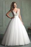 Vestido de novia Corte princesa Sala Satén Clasicos primavera Escote en V