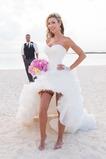Vestido de novia Asimétrico Dobladillo Espalda Descubierta Escote Corazón