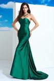 Vestido de noche Corte Sirena Falta Natural Elegante Satén Elástico