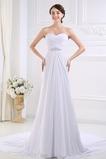 Vestido de novia Escote Corazón Drapeado Corte-A Fuera de casa Gasa