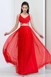 Vestido de fiesta Elegante Escote en V Falta Corte-A Cola Barriba Gasa