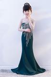 Vestido niña ceremonia Abalorio Corte-A Cremallera Satén Joya Natural