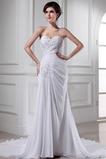 Vestido de novia Elegante Natural Gasa Corte-A Cordón Escote Corazón