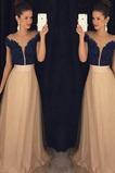 Vestido de fiesta Verano Manga corta Corte-A Moderno Capa de encaje Falta