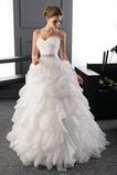 Vestido de novia Escote Corazón largo Organza primavera Formal Escalonado