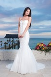 Vestido de novia Corte Sirena Fuera de casa Cola Capilla Abalorio Cordón