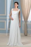 Vestido de novia Imperio Embarazadas Blusa plisada Elegante Imperio Cintura