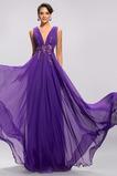 Vestido de noche Espalda Descubierta Natural Corte-A Escote en V primavera