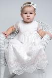Vestido de Bautizo Corte princesa Formal Verano Alto cubierto Joya Encaje