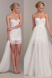 Vestido de novia Playa tul largo Corte-A Natural Escote Corazón