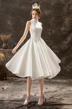 Vestido de novia Informal Pura espalda Satén Pera Otoño Natural
