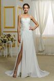 Vestido de novia Corte Recto Playa Elegante Apertura Frontal Espalda Descubierta