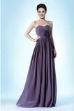 Vestido de dama de honor Escote Corazón Sin mangas Natural Gasa Rosetón Acentuado