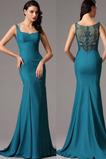 Vestido de noche Elegante Cremallera primavera Tiras anchas largo Cintura Baja