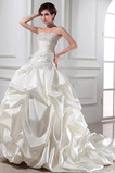 Vestido de novia Natural primavera Blusa plisada Satén Espalda Descubierta